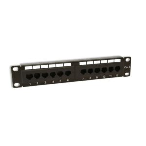 "KAUDEN™ 10"" Rack Mount 12 Port 1U CAT6 SOHO Patch Panel"