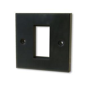 KAUDEN™ Single Module Faceplate – Black