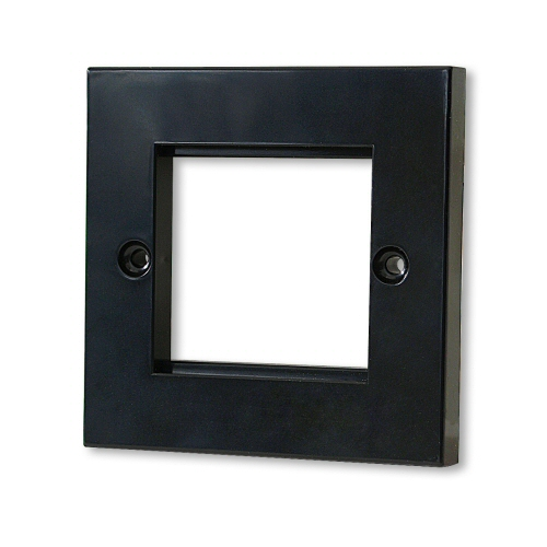 KAUDEN™ Twin Module Faceplate – Black