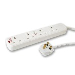 4 Gang Surge Protected 5 Metre Extension